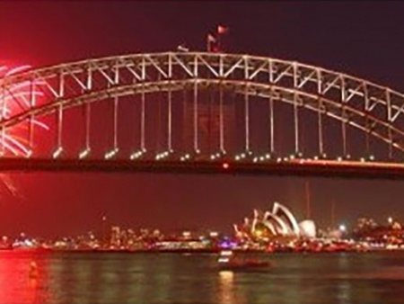 Sydney Harbor Bridge on NYE